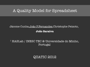 A Quality Model for Spreadsheet