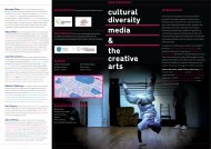 cultural diversity media & the creative arts - Centre for Transcultural ...