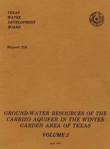 Report 210 Volume 2 - Texas Water Development Board