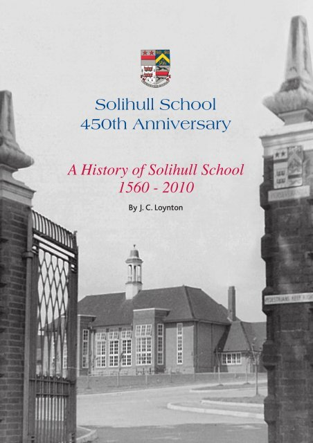 A History of Solihull School 1560