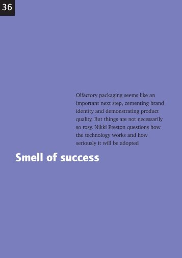 Smell of success
