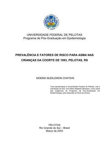 Asma em Pelotas, estudo de prevalência, fatores de risco e ...