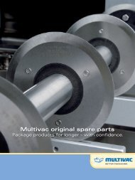 Multivac original spare parts