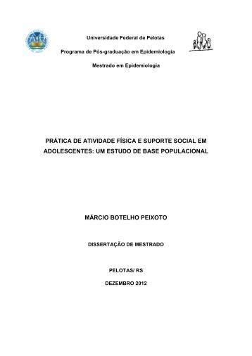 Dissertação (Mestrado) - Centro de Pesquisas Epidemiológicas