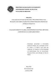 Avaliação subjetiva global e bioimpedância elétrica - Centro de ...