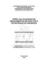 PERFIL DA UTILIZAÇÃO DE MEDICAMENTOS EM ADULTOS E ESTRATÉGIAS DE AQUISIÇÃO