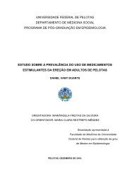 UNIVERSIDADE FEDERAL DE PELOTAS - Centro de Pesquisas ...