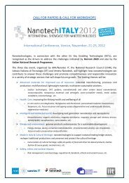 CALL FOR PAPERS & CALL FOR WORKSHOPS ... - Nanoforce