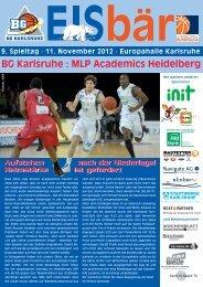 BG Karlsruhe : MLP Academics Heidelberg