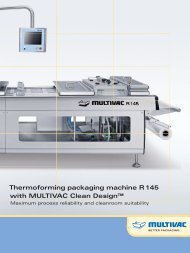 Thermoforming packaging machine R 145 with MULTIVAC Clean Design