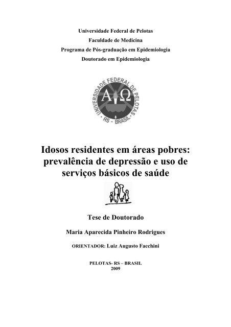 Idosos residentes em áreas pobres: prevalência de depressão e ...