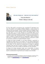 proteccion de peritos - Derecho y Cambio Social