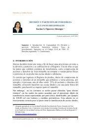 DIVISIÓN Y PARTICIÓN DE INMUEBLES - Derecho y Cambio Social