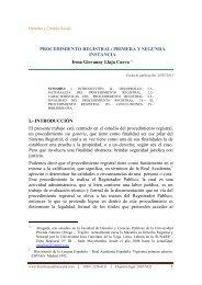 PROCEDIMIENTO REGISTRAL - Derecho y Cambio Social
