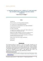 LA RESPONSABILIDAD CIVIL AMBIENTAL COMO MÉTODO DE ...