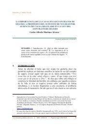 la importancia de la causa en los contratos de seguro - Derecho y ...