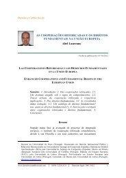 ESTABELECIMENTOS DE - Derecho y Cambio Social