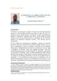 El Derecho y su función en el cambio social