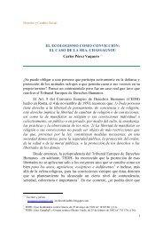 El ecologismo como convicción - Derecho y Cambio Social