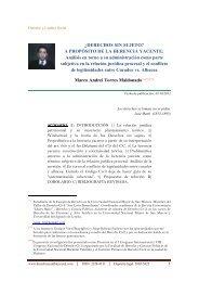 A PROPÓSITO DE LA HERENCIA YACENTE - Derecho y Cambio ...