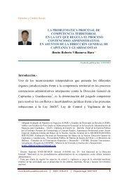 La Problemática Procesal de Competencia Territorial en - Derecho y ...