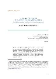 El enfoque de género en el Código Procesal Penal de 2004