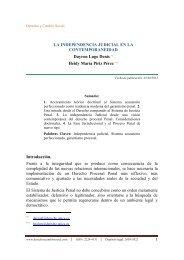 LA INDEPENDENCIA JUDICIAL EN LA CONTEMPORANEIDAD ...