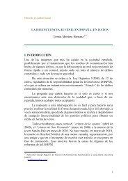La delincuencia juvenil en España en datos - Derecho y Cambio ...