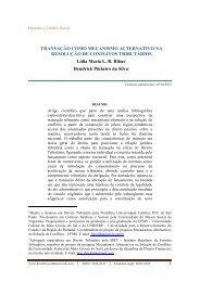 TRANSAÇÃO COMO MECANISMO ALTERNATIVO NA ...