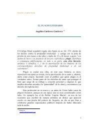 EL PLAGIO LITERARIO - Derecho y Cambio Social