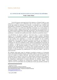 el contexto de negociacion en los conflictos mineros - Derecho y ...