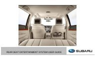 REAR SEAT ENTERTAINMENT SYSTEM USER GUIDE