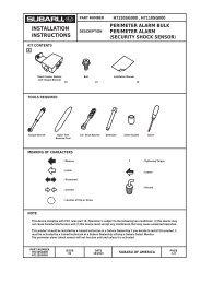 ZR1 セキュリティ衝撃S.(北米) - Subaru Technical Information System