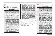Safety precautions when driving 0 - Subaru Technical Information ...