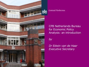 CPB Netherlands Bureau for Economic Policy Analysis