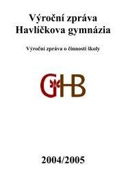Výroční zpráva Havlíčkova gymnázia