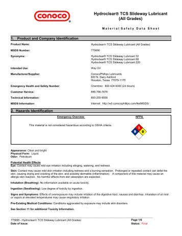 Safety data sheet sunoco for Msds motor oil all grades