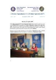 Distr 206° - Premio Volontà 2007 - Inner Wheel Italia