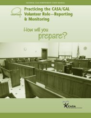 Practicing the CASA/GAL Volunteer Role—Reporting & Monitoring