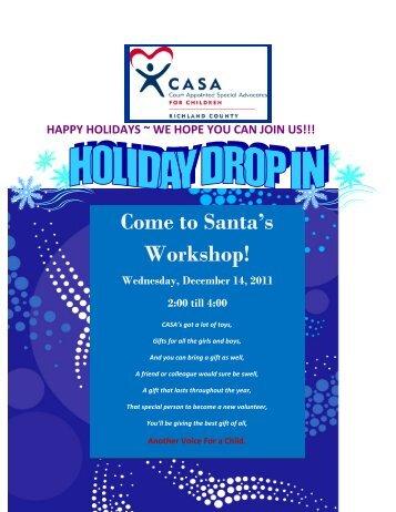 Come to Santa's Workshop!