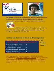 Let Your Child's Voice Be Heard by Attending Foster Care Review Board!!!