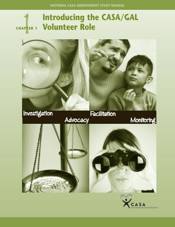 1Chapter 1 Introducing the CaSa/GaL Volunteer role - Richland ...