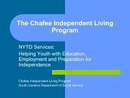 The Chafee Independent Living Program