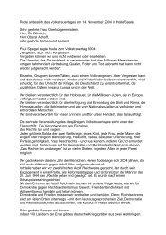 Halle/Saale, Rede anlässlich des Volkstrauertages - Christel ...