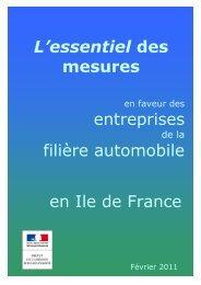 L'essentiel des mesures entreprises filière automobile en Ile de France