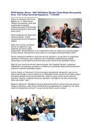 """RTÜK Başkanı Akman: """"2007-2008 Eğitim Öğretim Yılında Medya ..."""