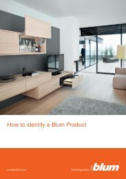 How to identify a Blum Product