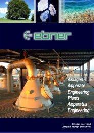 Anlagen Apparate Engineering Plants Apparatus Engineering
