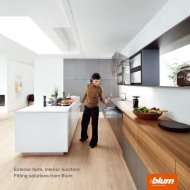 Exterior form interior function Fitting solutions from Blum