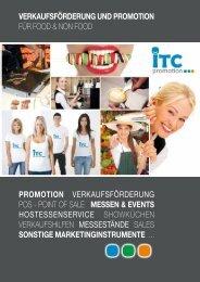 Unternehmensbroschüre zum downloaden - ITC promotion